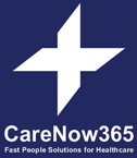Care Now 365's logo takes you to their list of jobs