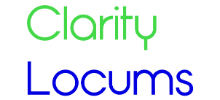 Clarity Locums's logo takes you to their list of jobs