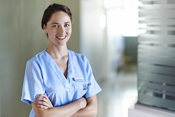 Nurse standing in a hospital